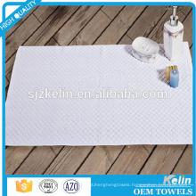 Jacquard Logo 350g Pure White Hotel Floor Towel