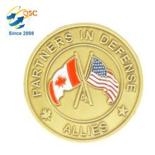 Échantillon gratuit de haute qualité en laiton en laiton ruban de couleur Promotion Coin