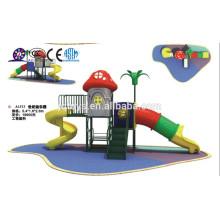 A1513 muebles de jardín de infancia Hotsale niños al aire libre seta de plástico Playground conjunto de niños de plástico túnel patio de juegos de diapositivas