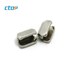 factory wholesale 5# plating top bag zipper stopper