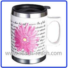 4050 ml Double Wall Kaffee-Haferl, Keramik-Becher (R-3005)