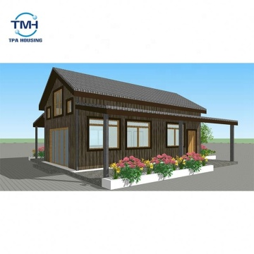 تصميم جديد Foshan Fiber Cement Board Modern Light Steel Villa Homes