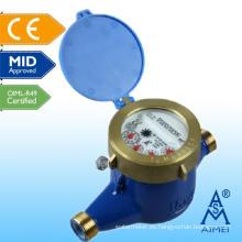 Medidor de agua de latón de tipo mediados de certificado volumétrico del pistón