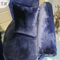 Tela de terciopelo italiana brillante para sofá