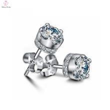 Custom Fashion Crown Design 925 Sterling Silver Crown Stud Earrings