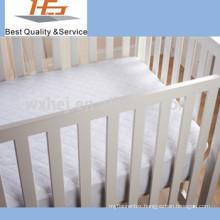 super soft 100% cotton white baby cradle mattress cover