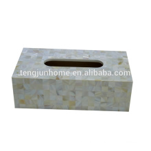 freshwater shell natural color rectangle creative tissue box