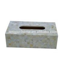 Пресноводная раковина естественный цвет прямоугольник коробка для творческой ткани