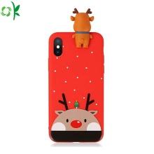 Nueva caja del teléfono del silicón de la Navidad de la moda en venta
