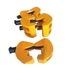 Abrazadera de riel soldable para fijación de riel de grúa