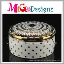 Boîte à bijoux en céramique décorative moderne