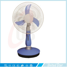 "12"" High Low Speed AC DC Recharge Battery Fan with LED Light Table Fan"