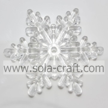 Wholesale Large Size Snowflake Faceted Clear Crystal Acrylic Beads