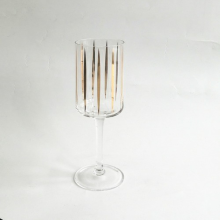 White Wine Glass With Gold Decal