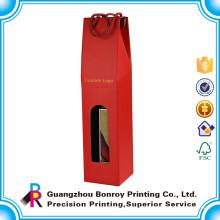 Alta Qualidade Personalizado Único Garrafa Red Wine Bottle Gift Box Atacado