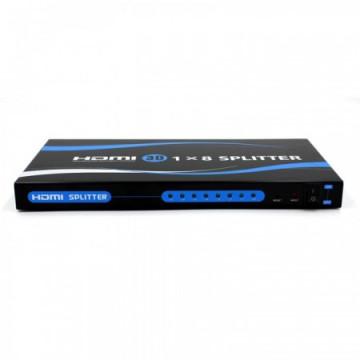 a 15m Mini Splitter HDMI 1X8