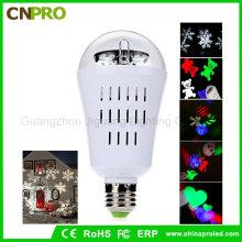 E27 4W LED Moving Snowflake Laser Projektor Lampe Birne für Weihnachten