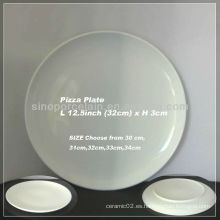 Placa de cerámica redonda de la pizza 12.5Inch para BS130125B