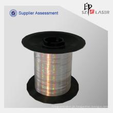 Fio de segurança holográfico de fluorescente com tinta invisível