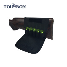 Tourbon Wholesale Elasticity Buttstock Ammo Holder Sports Gun Hold 5 Shotgun Shells Cartridges Carrier