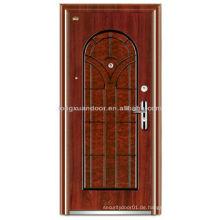 Edelstahl-Sicherheitstüren, gewölbte Oberseite und Tafel-Außenseite Sicherheits-Eingangstür-Türen