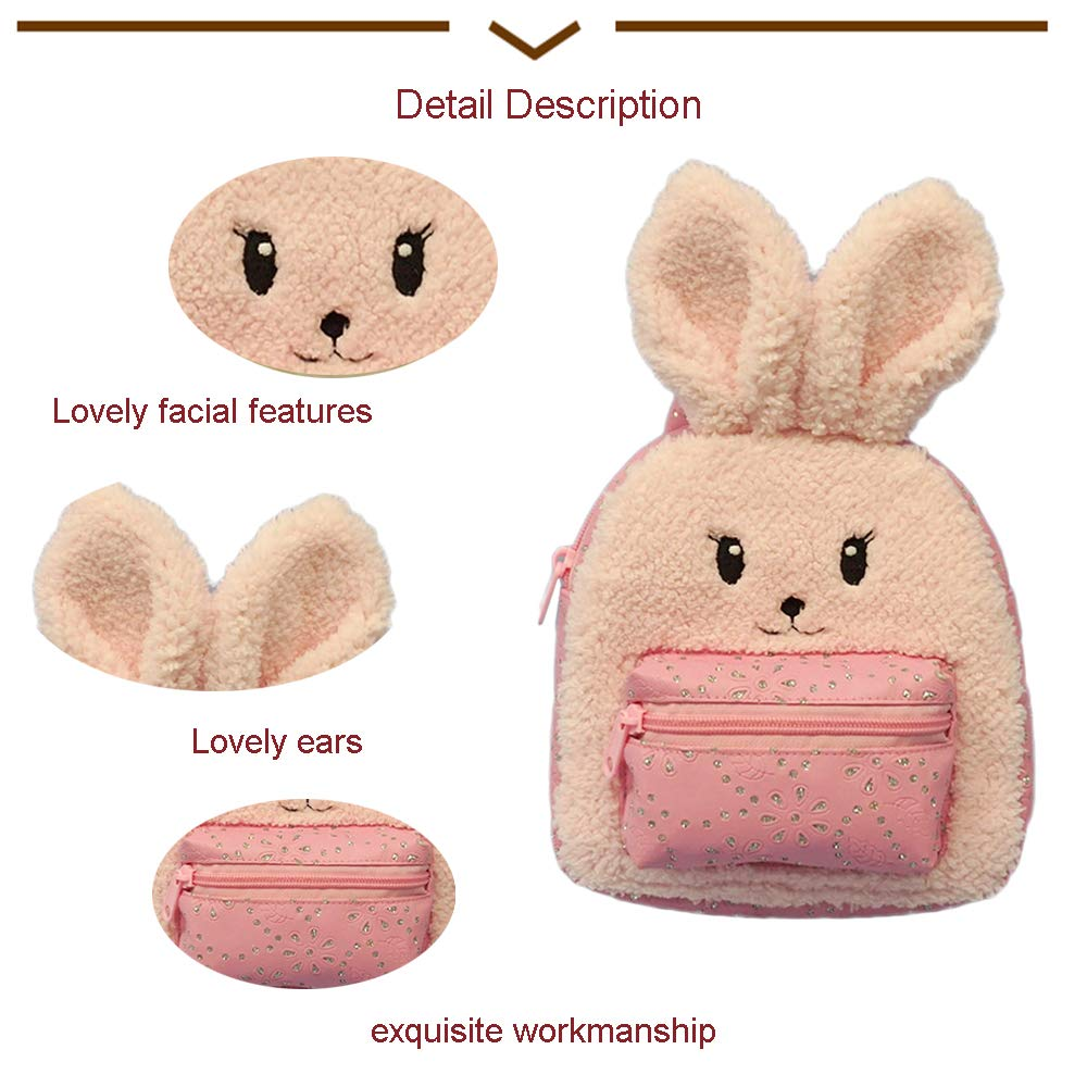 Animal Plush Rabbit Backpack 2