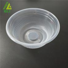 assiette creuse en plastique transparent