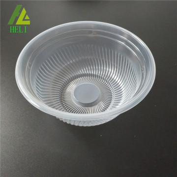 transparent plastic soup plate