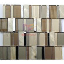 Gold Color Crystal Aluminium Mixed Mosaic Tiles (CFA80)