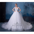 Длинный поезд принцесса белое свадебное платье съемный свадебные платья свадебные платья с шалью 2018
