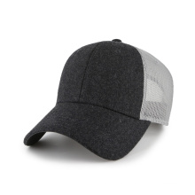 Melton and mesh blank baseball cap