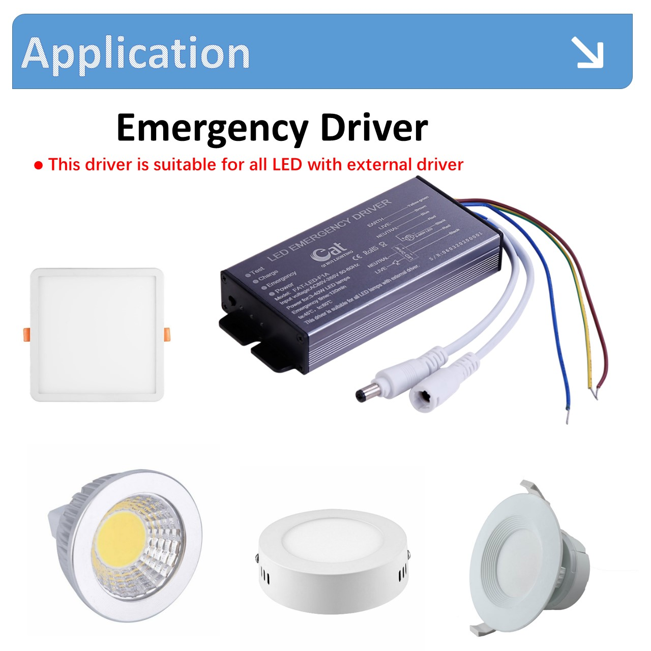 Constant Power Led Emergency Driver