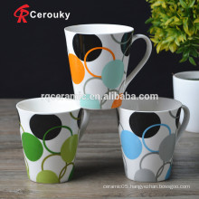 Without lead and cadmium fine porcelain mugs