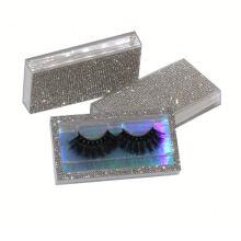 SL037H Hitomi Mink Fur Eyelashes Private Label soft natural mink eyelashes Fluffy 25mm Magnetic Mink Eyelashes