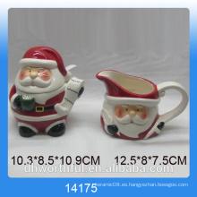 2016 utensilios de cocina de Navidad olla de azúcar de cerámica y jarra de leche