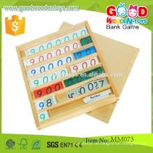 Hölzerne Montessori Mathematik Pädagogisches Spiel Spielzeug Bank Spiel