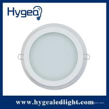 PF> 0,9 85RA 100LM / W 2 ans de garantie verre ultra-mince conduit encastré panneau de plafond lumière