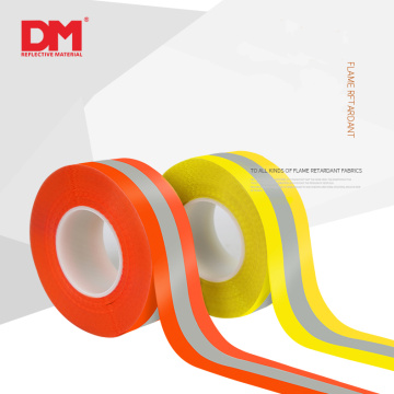 High reflective flame retardant warning tape