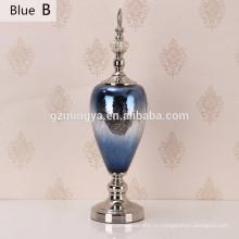 Дом декорированная бутылка Лампа современный синего сверкающих офиса украшения роскошный дом украшения