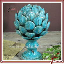 Голубой потрескивать керамический домашний декор лотоса