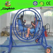 Giroscópio de cor azul com rede de segurança