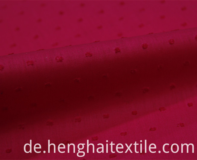 Rose red embroidered cloth
