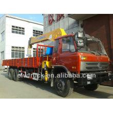 8 Ton Dongfeng 6x4 Cargo Camión Con Grúa