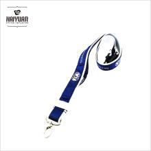 China de venta caliente de venta de marca personalizada de doble capa de poliéster Lanyard con Logo