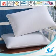 Travesseiro de penas de pato branco puro para hotel / casa 5 estrelas