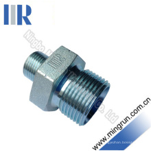 Macho hidráulico do adaptador do uso dobro masculino de Bsp (1B)