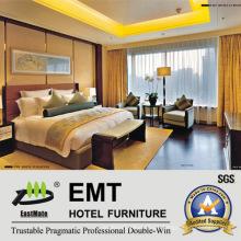 Conjunto de quarto de madeira moderno em estilo chinês de madeira (EMT-A1205)