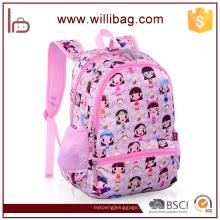 2016 bolso de escuela de lujo lindo imagen de la historieta de la bolsa de la escuela