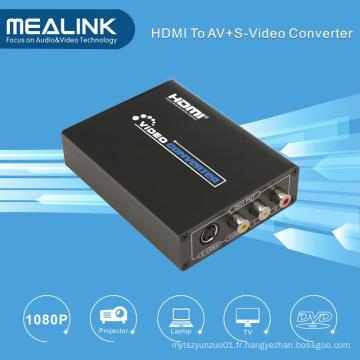 Convertisseur AV / S-Vidéo HDMI vers RCA (Convertisseur HD 720P / 1080P)