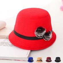 Женщины Мода Кролик Мех шаровой шерсти трикотажные ковш Hat (YKY3233)